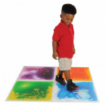 4 Pack Mixed Colours Sensory Liquid Tiles